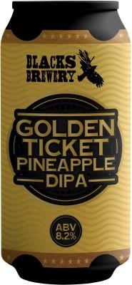 [kuva: Blacks Golden Ticket Pineapple DIPA tölkki(© Alko)]