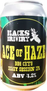 [kuva: Blacks Ace of Haze DDH Cryo Hazy Session IPA tölkki(© Alko)]