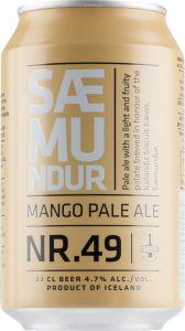 [kuva: Borg Saemundur Nr. 49 Mango Pale Ale tölkki(© Alko)]