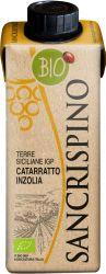[kuva: Sancrispino Catarratto Inzolia Organic kartonkitölkki]