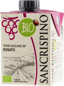 [kuva: Sancrispino Bio Rosato kartonkitölkki(© Alko)]