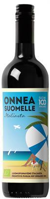 [kuva: Onnea Suomelle Italiasta Organic Primitivo 2015(© Alko)]