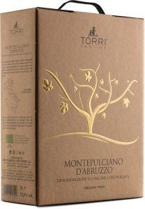 [kuva: Torri Cantine Montepulciano d'Abruzzo Organic 2019 hanapakkaus(© Alko)]