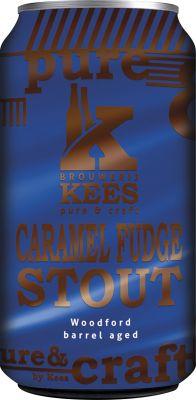 [kuva: Kees Caramel Fudge Stout Woodford Barrel Aged tölkki(© Alko)]