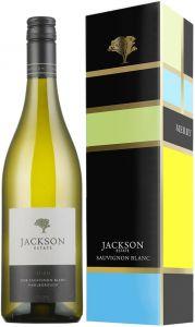 [kuva: Jackson Estate Stich Sauvignon Blanc 2017 lahjapakkaus(© Alko)]
