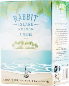 [kuva: Rabbit Island Riesling 2020 hanapakkaus(© Alko)]