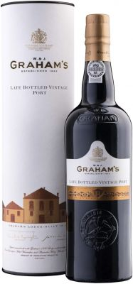 [kuva: Graham's Late Bottled Vintage Port 2014 lahjapakkaus(© Alko)]