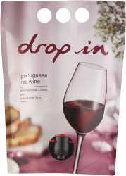 [kuva: Drop In Red 2013 viinipussi(© Alko)]