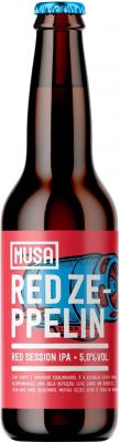 [kuva: Musa Red Zeppelin Red Session IPA(© Alko)]