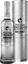 [kuva: Russian Standard Platinum Vodka lahjapakkaus]