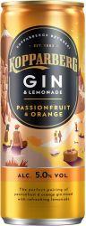 [kuva: Kopparberg Gin & Lemonade Passionfruit & Orange tölkki]