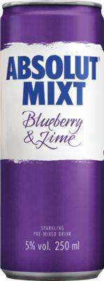 [kuva: Absolut Mixt Blueberry & Lime tölkki(© Alko)]