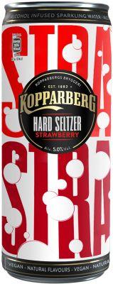 [kuva: Kopparberg Hard Seltzer Strawberry tölkki(© Alko)]