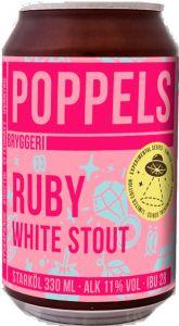 [kuva: Poppels Ruby White Stout tölkki(© Alko)]