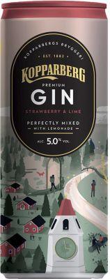 [kuva: Kopparberg Premium Gin Strawberry & Lime tölkki(© Alko)]