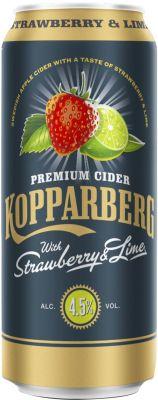 [kuva: Kopparberg Strawberry & Lime Premium Cider tölkki(© Alko)]