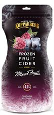 [kuva: Kopparberg Frozen Fruit Cider Mixed Fruit siideripussi(© Alko)]