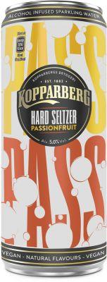 [kuva: Kopparberg Hard Seltzer Passionfruit tölkki(© Alko)]