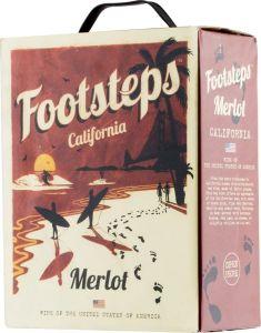 [kuva: Footsteps Merlot 2019 hanapakkaus(© Alko)]