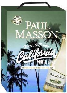 [kuva: Paul Masson California White hanapakkaus(© Alko)]
