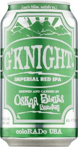 [kuva: Oskar Blues G'Knight Imperial Red IPA tölkki(© Alko)]