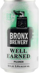 [kuva: Bronx Well Earned Pilsner tölkki(© Alko)]