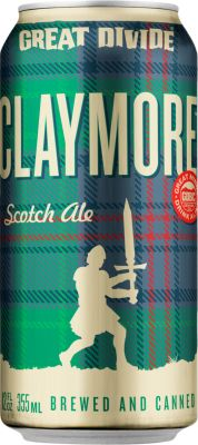 [kuva: Great Divide Claymore Scotch Ale tölkki(© Alko)]