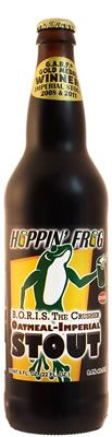 [kuva: Hoppin' Frog B.O.R.I.S. the Crusher Oatmeal Imperial Stout(© Alko)]