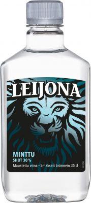 [kuva: Leijona Minttu muovipullo(© Alko)]
