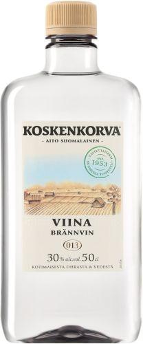 [kuva: Koskenkorva Viina 30% muovipullo(© Alko)]
