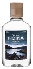 [kuva: Pohjan Poika Strong Vodka muovipullo(© Alko)]