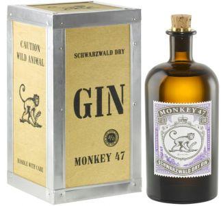 [kuva: Monkey 47 Schwarzwald Dry Gin lahjapakkaus(© Alko)]