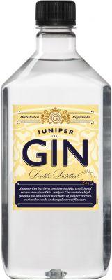 [kuva: Juniper Gin muovipullo(© Alko)]