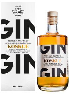 [kuva: Kyrö Koskue Gin lahjapakkaus(© Alko)]