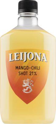 [kuva: Leijona Mango-Chili Shot muovipullo(© Alko)]