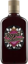 [kuva: Royal Vadelma Salmiakkisnapsi muovipullo(© Alko)]