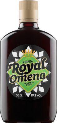 [kuva: Royal Kirpeä Omena Salmiakkisnapsi muovipullo(© Alko)]
