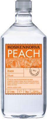 [kuva: Koskenkorva The Original Peach muovipullo(© Alko)]
