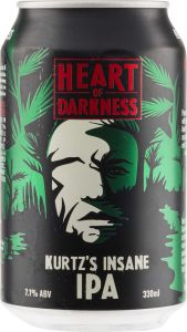 [kuva: Heart Of Darkness Kurtz's Insane IPA tölkki(© Alko)]