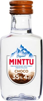 [kuva: Minttu Choco muovipullo(© Alko)]