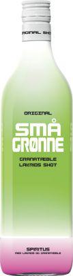 [kuva: Små Gronne Granatable Lakrids Shot muovipullo(© Alko)]