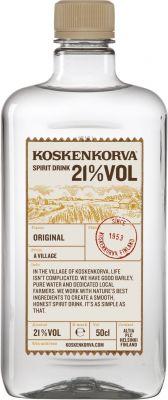[kuva: Koskenkorva Spirit Drink 21% muovipullo(© Alko)]