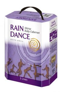 [kuva: Rain Dance Shiraz Ruby Cabernet hanapakkaus(© Alko)]