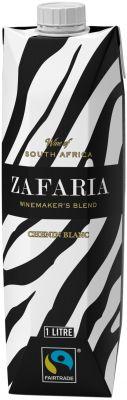[kuva: Zafaria Winemakers Blend Chenin Blanc 2018 kartonkitölkki(© Alko)]