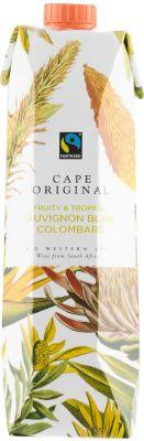 [kuva: Cape Original Fruity & Tropical 2020 kartonkitölkki(© Alko)]