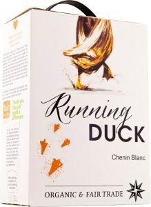 [kuva: Running Duck Chenin Blanc 2019 hanapakkaus(© Alko)]
