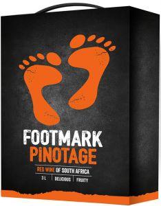 [kuva: Footmark Pinotage hanapakkaus(© Alko)]